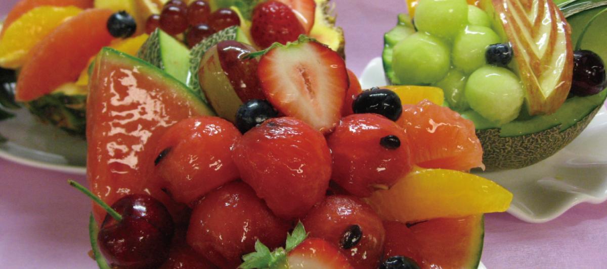 新鮮な果物をご用意しております!